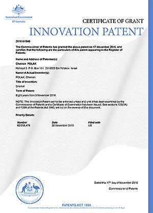 Patent in Australia