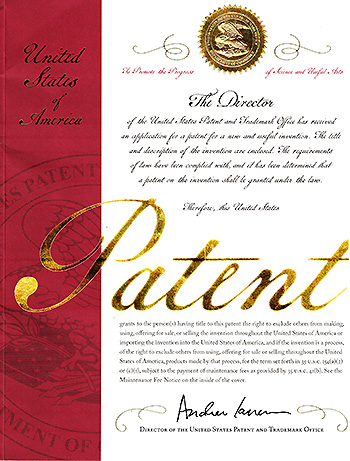 Patent in the United States
